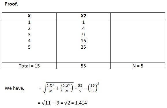 Determine the Standard Deviation