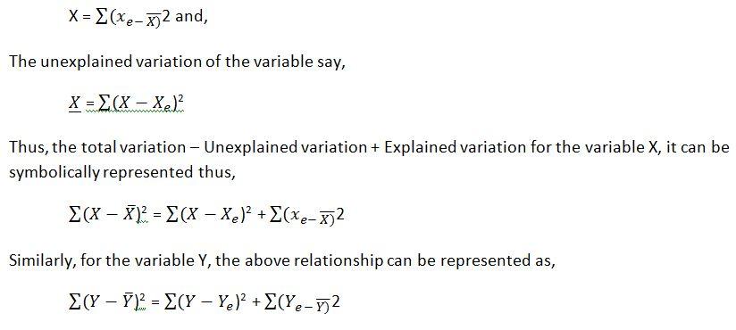 Explained and Unexplained Variation