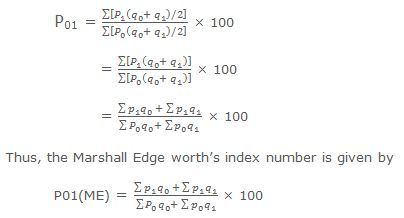 Marshall and Edge worth's Weighted Aggregative Method