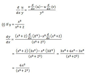Quotient Rule of Differentiation