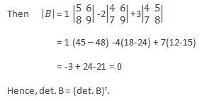 Properties of a Determinant